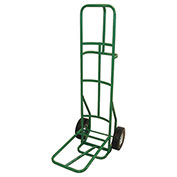 "Fairbanks Dolly for Stacking Chairs - 10"" Semi Pneumatic Wheels - Green - 12 Chair Capacity"