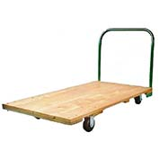 "Fairbanks Hardwood Platform Truck E-26-Q-2448-RT-407-24 - 24"" x 48"" - 1600 Lb. Capacity"