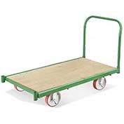 "Fairbanks All Steel Bound Platform Truck E-LQ-2448-6POE-411-24 - 24"" x 48"" - 6"" Polyurethane"