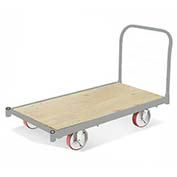 "Fairbanks All Steel Bound Platform Truck E-LQ-3048-8-FPN-411-30 - 30"" x 48"" - 8"" Pneumatic"
