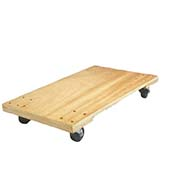 "Fairbanks Hardwood Dolly ED-15-1830-3HR - 30"" x 18"" Solid Plywood - 3"" Rubber Wheels - 1000 Lb."
