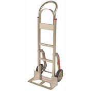 Fairbanks Aluminum Handtruck FBAL18-SC-10FPN - Curved with Stair Climbers - Pneumatic Wheels