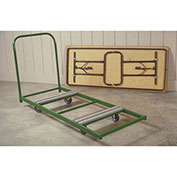 Fairbanks Dolly for Rectangular Folding Tables Green 12 Table Capacity