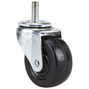 "Fairbanks Light/Medium-Duty Stem Swivel Caster S-11-02-2-HR - Hard Rubber 2"" Dia. - 100 Lb. Cap."