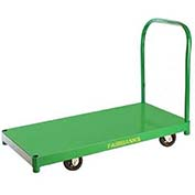 "Fairbanks All Steel Platform Truck SD-95-2448-RTE-411-24 - 24"" x 48"" - 8"" Rubber Wheels - 1200 Lb."