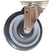 "Fairbanks Stainless Steel Swivel Caster SS-03-3-PBB - Polyurethane with Polyethylene Center 3"" Dia."