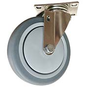 "Fairbanks Stainless Steel Swivel Caster SS-03-3-TPR - Thermoplastic Rubber 3"" Dia. - 150 Lb. Cap."