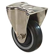 "Fairbanks Stainless Steel Rigid Caster SS-13-3-PBB - Polyurethane with Polyethylene Center 3"" Dia."