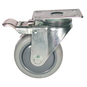 "Fairbanks Total Lock Swivel Caster TL-03-3-TPR - Thermoplastic Rubber - 3"" Dia. - 200 Lb."