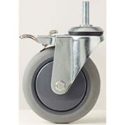 "Fairbanks Stem Swivel Caster TL-S11-03-3-TPR - Thermoplastic Rubber 3"" Dia - 200 Lb. Cap."