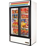 "True® GDM-43F Freezer Merchandiser 2 Section - 47-1/8'""W X 29-7/8""D X 78-5/8""H"