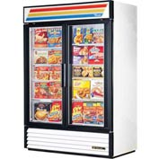 "True® GDM-49F Freezer Merchandiser 2 Section - 54-1/8""W X 29-7/8""D X 78-5/8""H"
