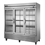 True® T-72G-LD Reach In Refrigerator 72 Cu. Ft. Stainless Steel