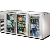 "True® TBB-24GAL-72G-S Back Bar Cooler 3 Section - 71-7/8""W X 24-1/4""D X 34-1/4""H"