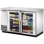 "True® TBB-2G-S Back Bar Cooler 2 Section - 58-7/8""W X 27-3/4""D X 37""H"