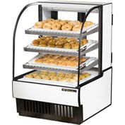 "True® TCGD-31 Curved Glass Non-Refrigerated Dry Bakery Case - 31-7/8""W X 38-1/8""D"