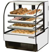 "True® TCGD-36 Curved Glass Non-Refrigerated Dry Bakery Case - 36-7/8""W X 38-1/8""D"