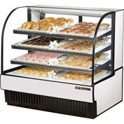 "True® TCGD-50 Curved Glass Non-Refrigerated Dry Bakery Case - 50-7/8""W X 35-1/2""D"