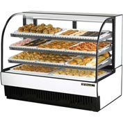 "True® TCGD-59 Curved Glass Non-Refrigerated Dry Bakery Case - 59-7/8""W X 35-1/2""D"