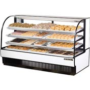"True® TCGD-77 Curved Glass Non-Refrigerated Dry Bakery Case - 77-7/8""W X 35-1/2""D"