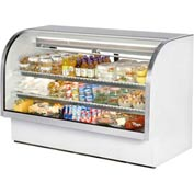 "True® TCGG-72 Curved Glass Deli Case - 72-1/4""W X 35-1/4""D X 47-3/4""H"