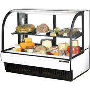 """True® TCGR-59-CD Curved Glass Display Case Cold Deli - 59-7/8""""W X 35-1/2""""D"""