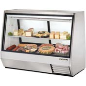 "True® TDBD-72-2 Double Duty Deli Case See-Thru - 72-1/8""W X 35-1/8""D X 55""H"