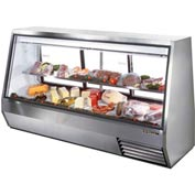"True® TDBD-96-3 Double Duty Deli Case See-Thru - 96-1/8""W X 35-1/8""D X 55""H"