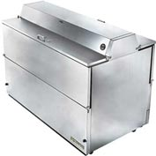"""True® TMC-58-S-DS-SS Mobile Milk Cooler 16 Crates Dual Sided - 58""""W X 33-3/8""""D"""