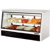 "True® TSID-72-3-L Counter - Height Deli Case See-Thru - 72-1/2""W X 32-1/8""D X 42""H"