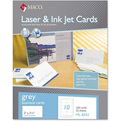 "Maco® Microperforated Business Cards ML8552, 2"" x 3-1/2"", Matte, 250/Box"