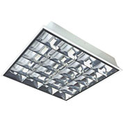 Straits Lighting 13070584 LED Deep Cell Parabolic Troffer, Frosted Tubes, 40W, 4000K