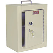 "Harloff Narcotics Box, Medium, Single Door, Single Lock, 12""W x 9""D x 16""H - Beige"