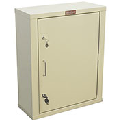 "Harloff Narcotics Cabinet, Large, Single Door, Double Lock 23-1/2""W x 10-1/2""D x 29-1/2""H - Beige"