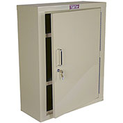 "Harloff Narcotics Cabinet, Large, Single Door/Single Lock, 23-1/2""W x 10-1/2""D x 29-1/2""H, Beige"