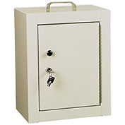 "Harloff Narcotics Cabinet, Medium, Double Door, Double Lock, 12""W x 9""D x 16""H, Beige"