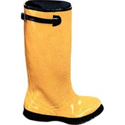 Yellow Latex Over the Shoe Slush Boot, Size 9
