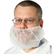 Beard Covers, Polypropylene, White, 1000/Case