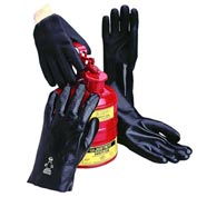 "Interlock Lined PVC Gloves, Smooth, 18"", Large"
