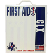 First Voice™ 100 Person ANSI Compliant Unitized First Aid Kit, Metal Case