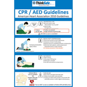 "First Voice™ CPR/AED Poster Set, 8"" X 10"", 2/Pack"