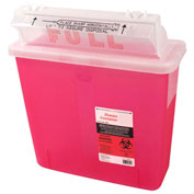 First Voice™ 5 Quart Sharps Container with OSHA Compliant Blood Borne Pathogen Training