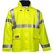 Tingley® Eclipse™ Hi-Visibility FR Hooded Coat, Zipper, Fluorescent Yellow/Green, 4XL