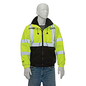 Tingley® J26112 Bomber II Hooded Jacket, Fluorescent Yellow/Green/Black, 4XL