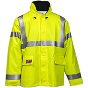 Tingley® Eclipse™ Hi-Visibility FR Hooded Jacket, Zipper, Fluorescent Yellow/Green, 2XL