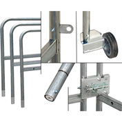 Tie Down Engineering Roof Zone™ Swing Gate, Galvanized with Wheel & Gate Latch, 10 Ft. Long