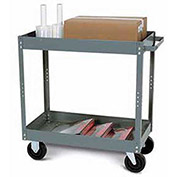 "Tri-Boro Economy 2 Shelf Stock Cart ESC2436-2 22 Gauge Steel 36 x 24 with 3"" Lip, 500 Lb. Cap."