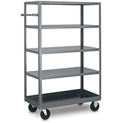 Tri-Boro 5 Shelf Mobile Shelf Truck MST1836 20 Gauge Steel 36 x 18, 1000 Lb. Cap.