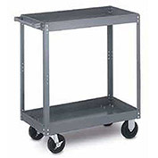 Tri-Boro Heavy Duty 2 Shelf Stock Cart SC2448-2 18 Gauge Steel 48 x 24 with 2-1/4 Lip, 1000 Lb. Cap.