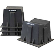 "RomoTech Pontoon Caddies 82021615R - 17""L x ""17""W x 13""H, Black - Price for Pack of 4"